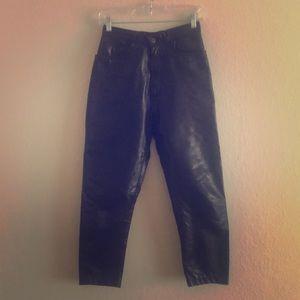 Vintage Leather Capris